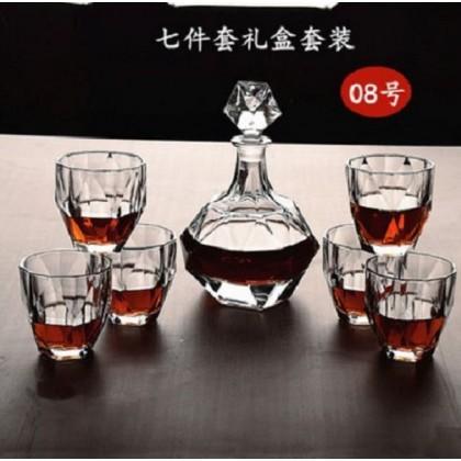 Whisky set 7pcs (glass+decanter)  ( 008-Diamond )