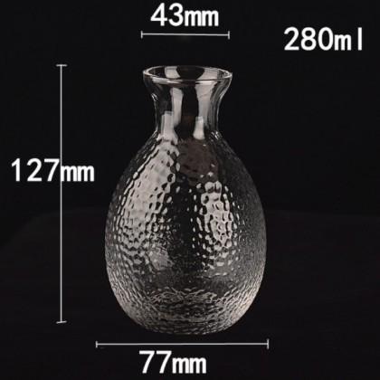 6pcs Sake Decanter Set with Box (Transparent)